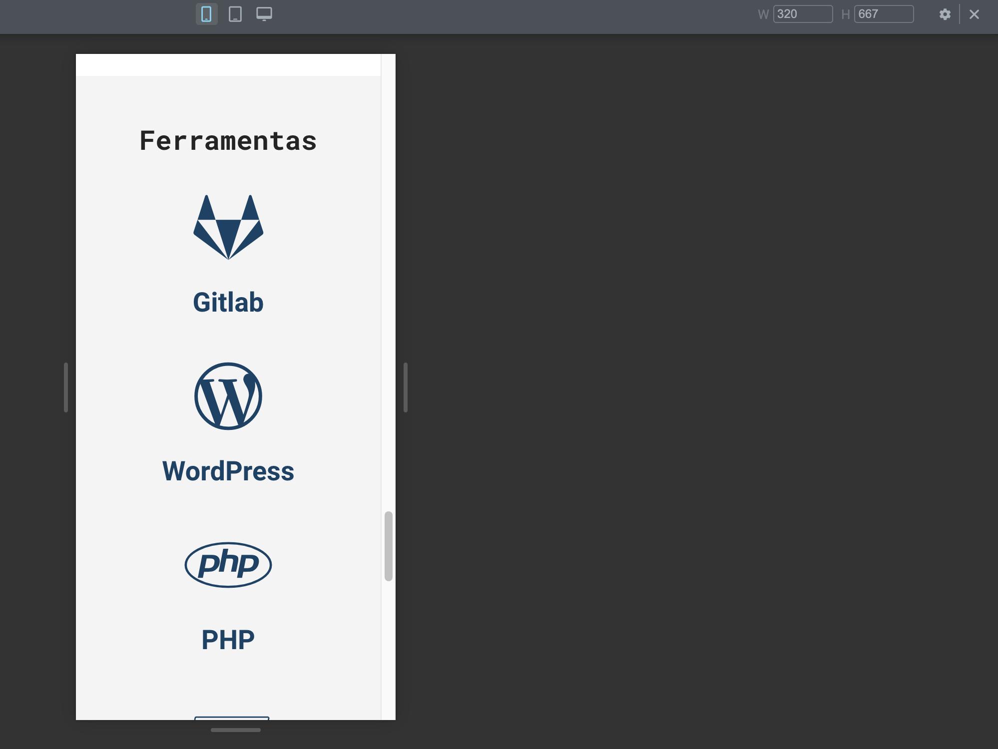 tela responsiva editor elementor