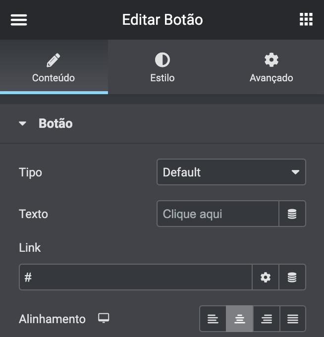 editar link do botão de voltar ao topo para #
